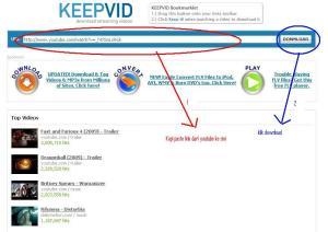 keepVid layar ke pertama